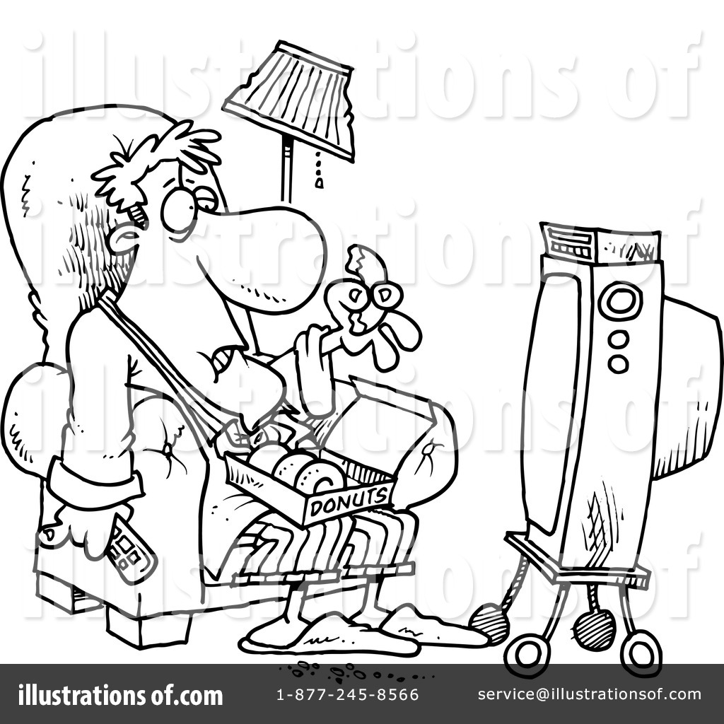 watching tv clipart 1047062 illustration by toonaday