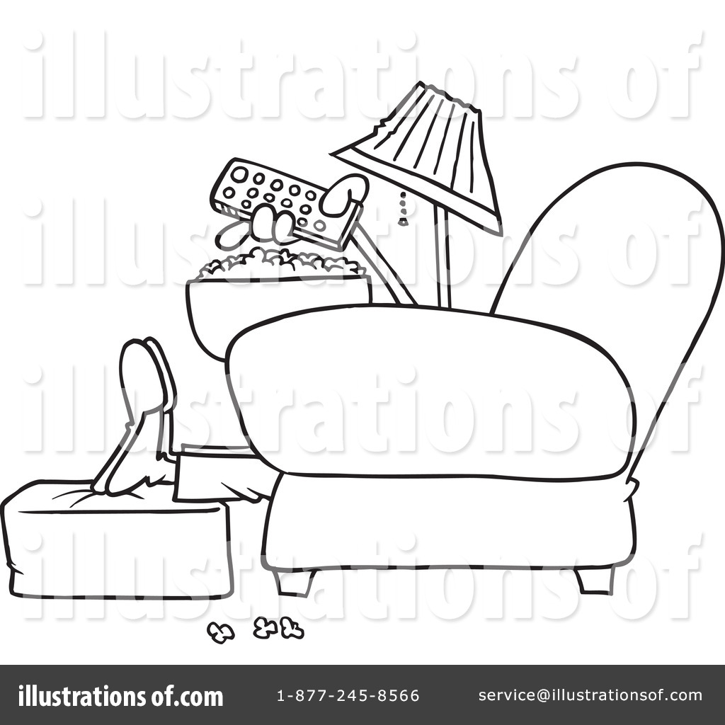 watching tv clipart black and white. royalty-free (rf) watching tv clipart illustration #442108 by toonaday black and white