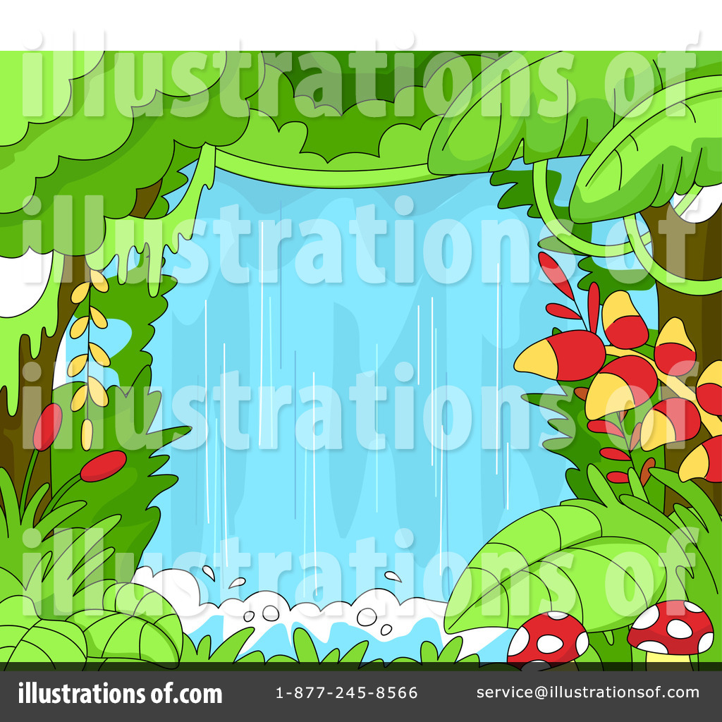 Waterfall Clipart #1097300 - Illustration by BNP Design Studio