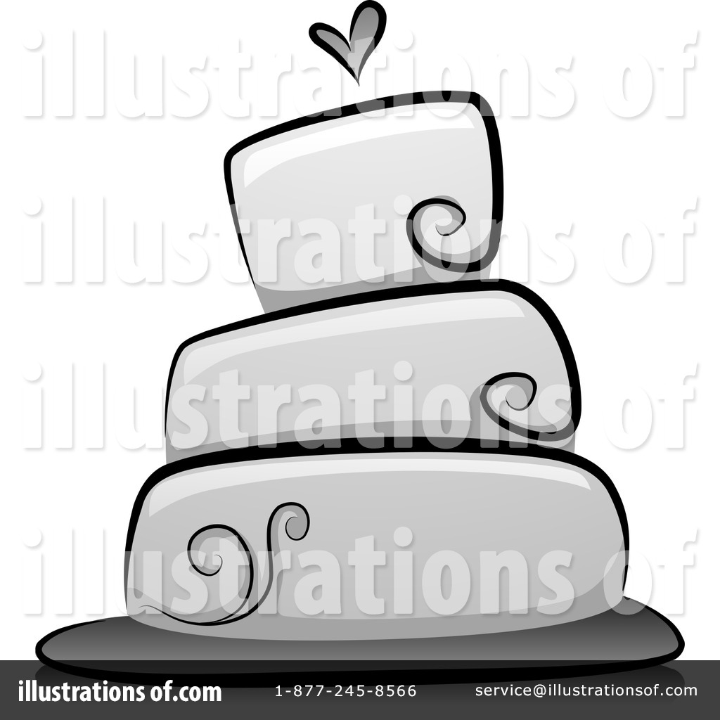 Wedding Cake Clipart 1201854 Illustration By Bnp Design Studio