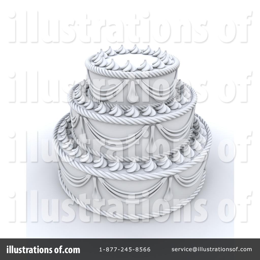 Wedding Cake Clipart 64029 Illustration by KJ Pargeter