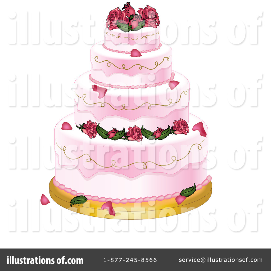Royalty Free RF Wedding Cake Clipart Illustration By Pams