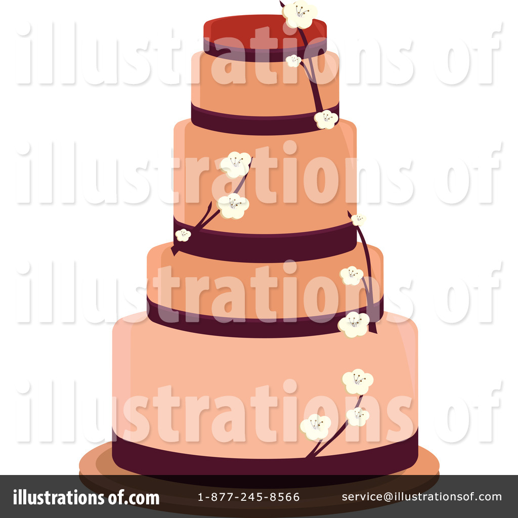 Royalty Free RF Wedding Cake Clipart Illustration 1093177 By Randomway