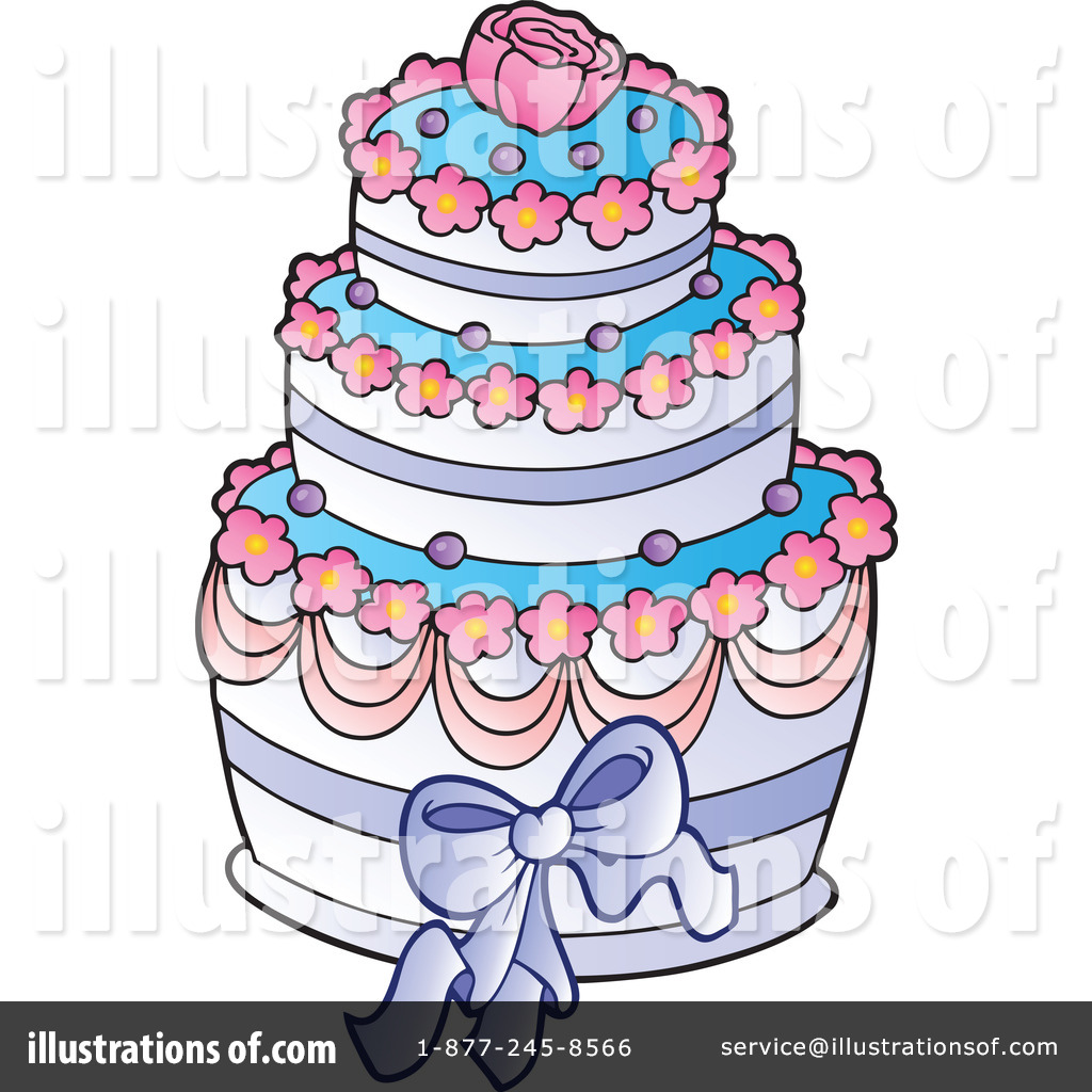 Wedding Cake Clipart #1057404 - Illustration by visekart