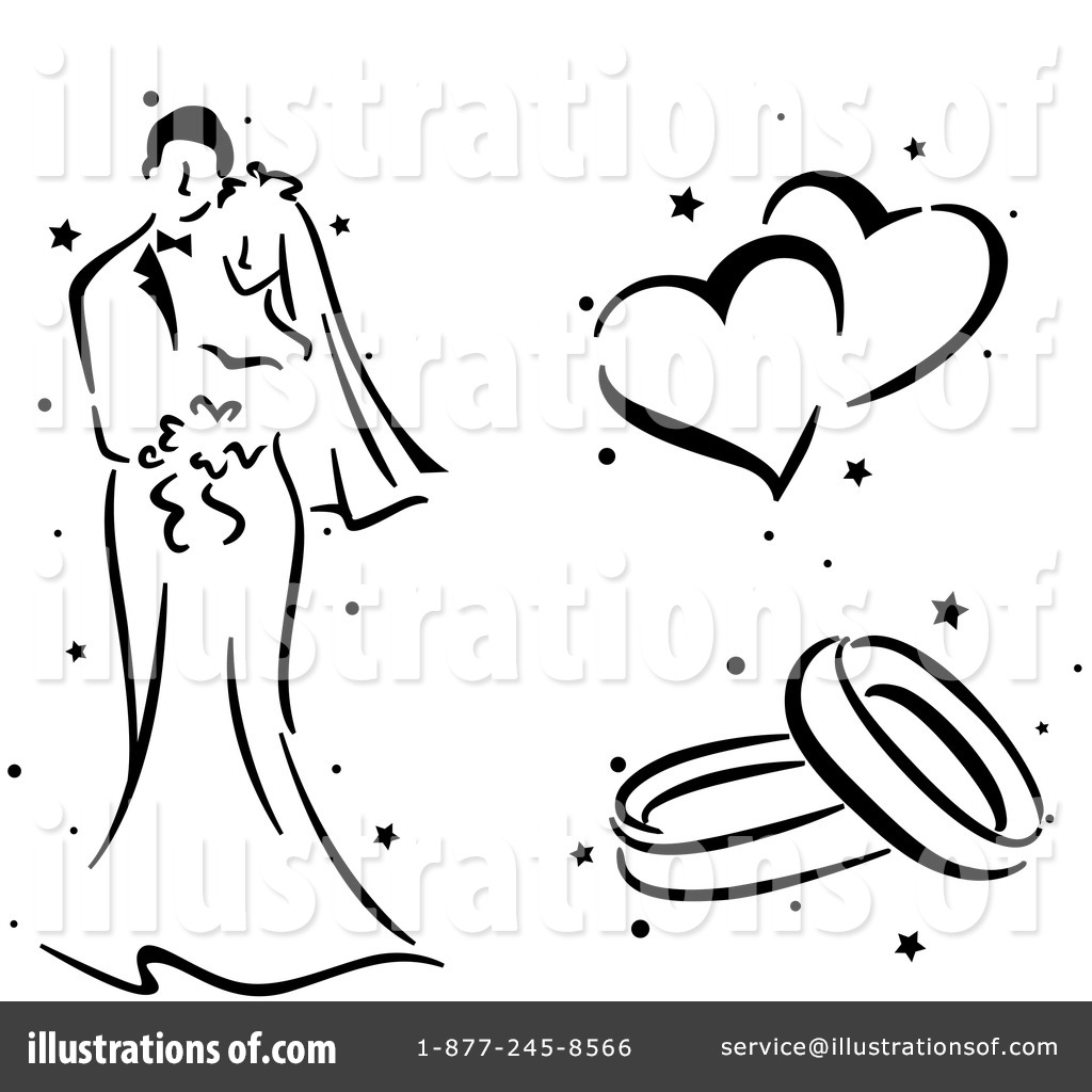 wedding clipart 435094 illustration by bnp design studio rh illustrationsof com wedding invitation clip art designs wedding card clipart designs