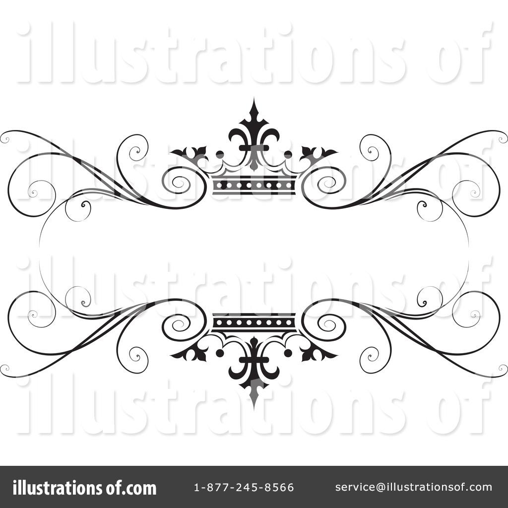 Wedding frame. Clipart illustration by lal