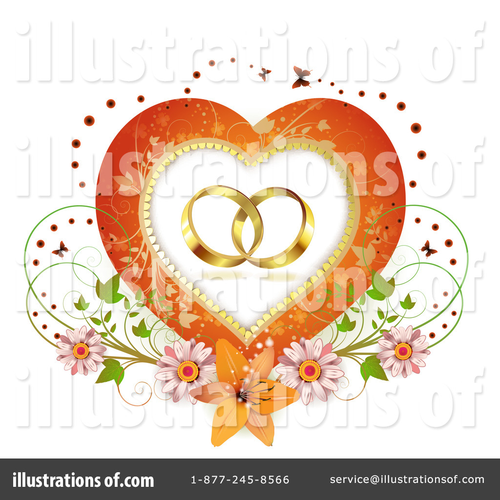 Royaltyfree (rf) Wedding Rings Clipart Illustration #1102181 By Merlinul