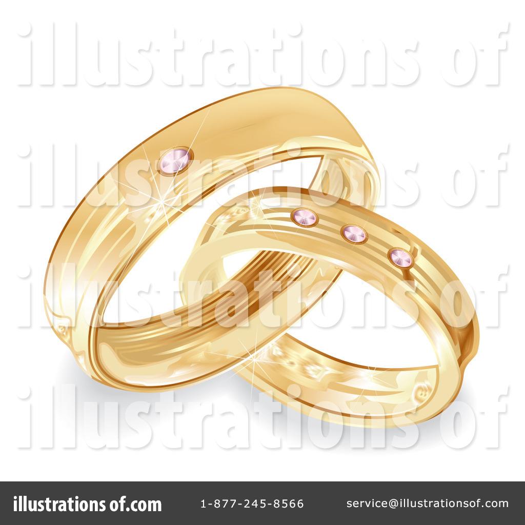 Royaltyfree (rf) Wedding Rings Clipart Illustration #100740 By Milsiart