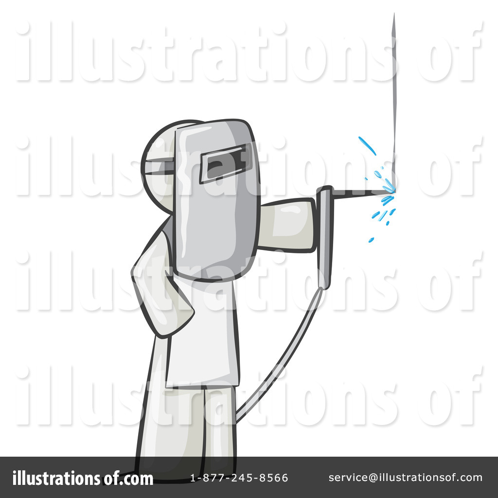 Welder Clipart #219733 - Illustration by Leo Blanchette