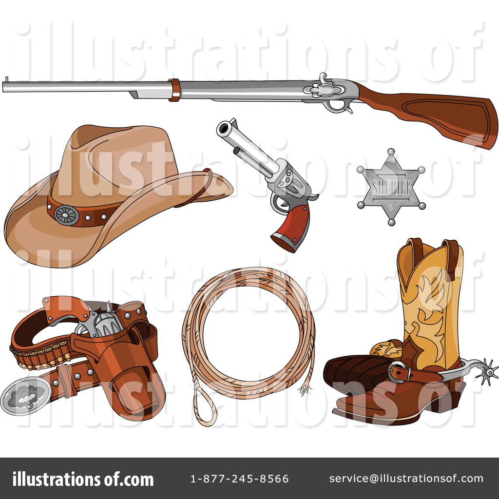 Western Clipart Illustration By Pushkin - Western clipart