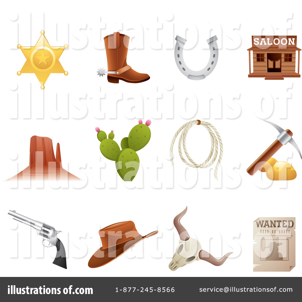 Royalty Free RF Western Clipart Illustration 1063767 By TA Images