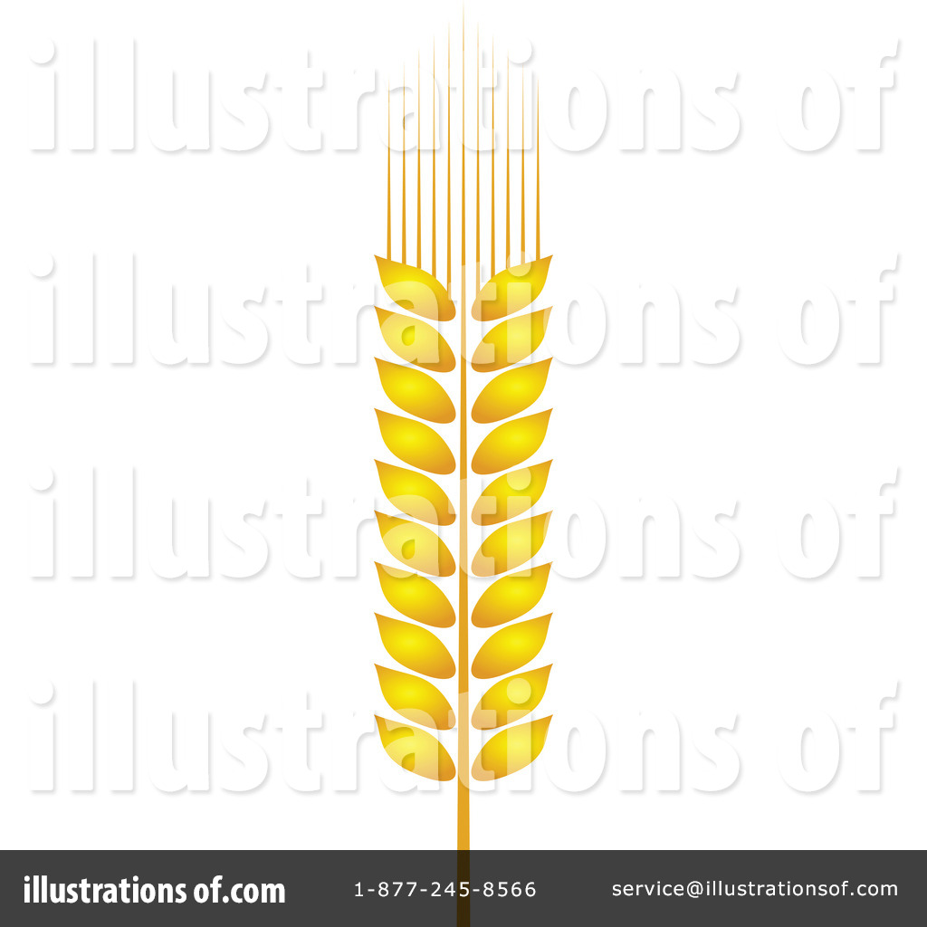 Wheat Clipart #1154492 - Illustration by Vector Tradition SM