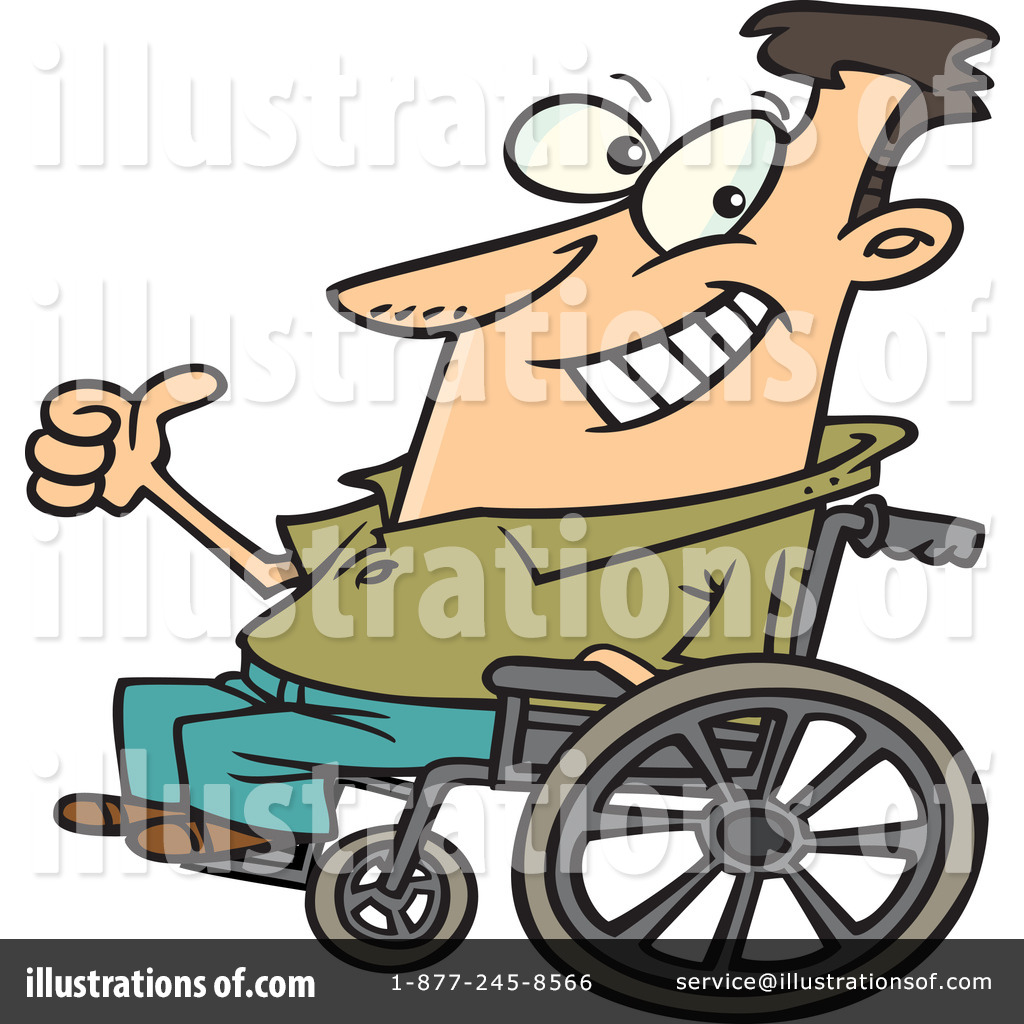 Wheelchair Clipart #438663 - Illustration by Ron Leishman