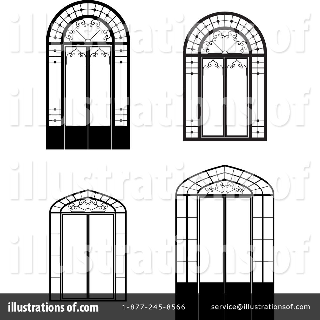 Windows Clipart #1113029 - Illustration by Frisko for Window Clipart Black And White  111bof