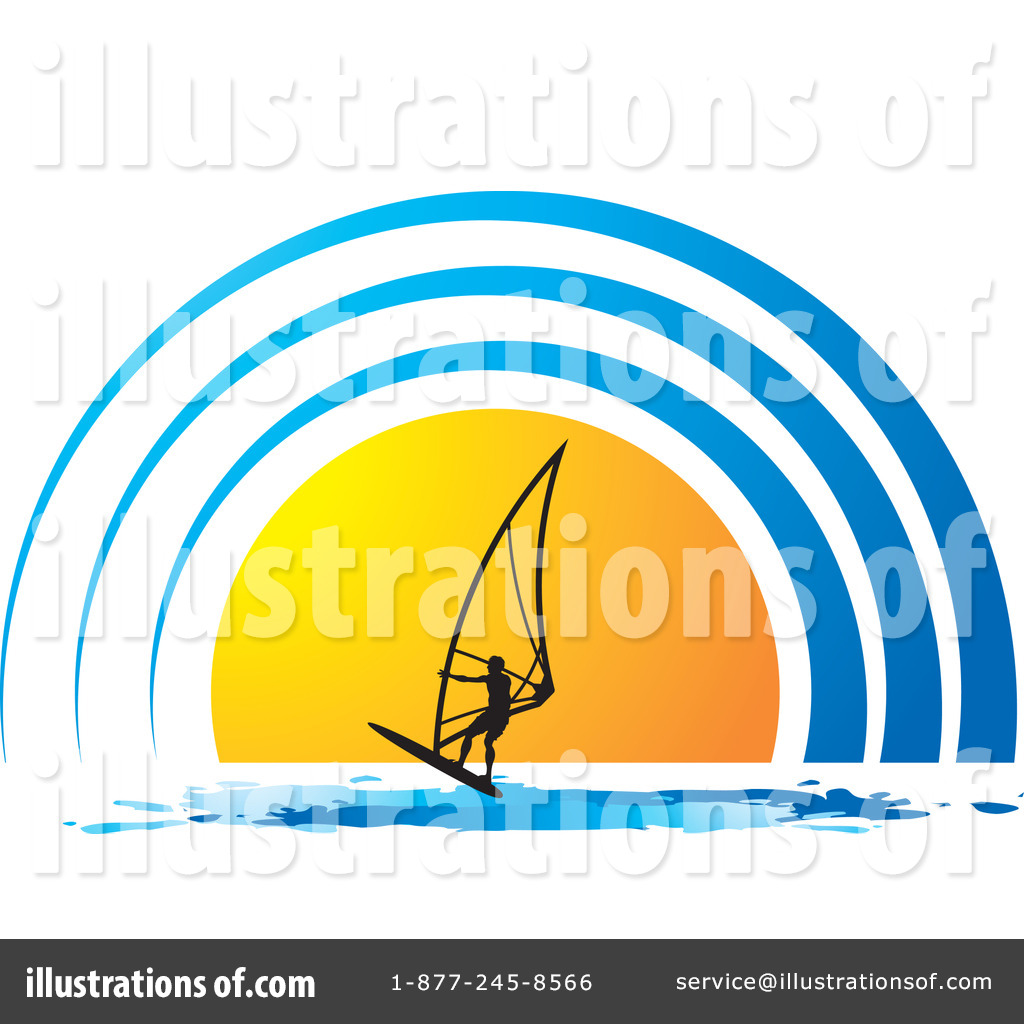 Royalty Free RF Windsurfing Clipart Illustration 1224325 By Lal Perera