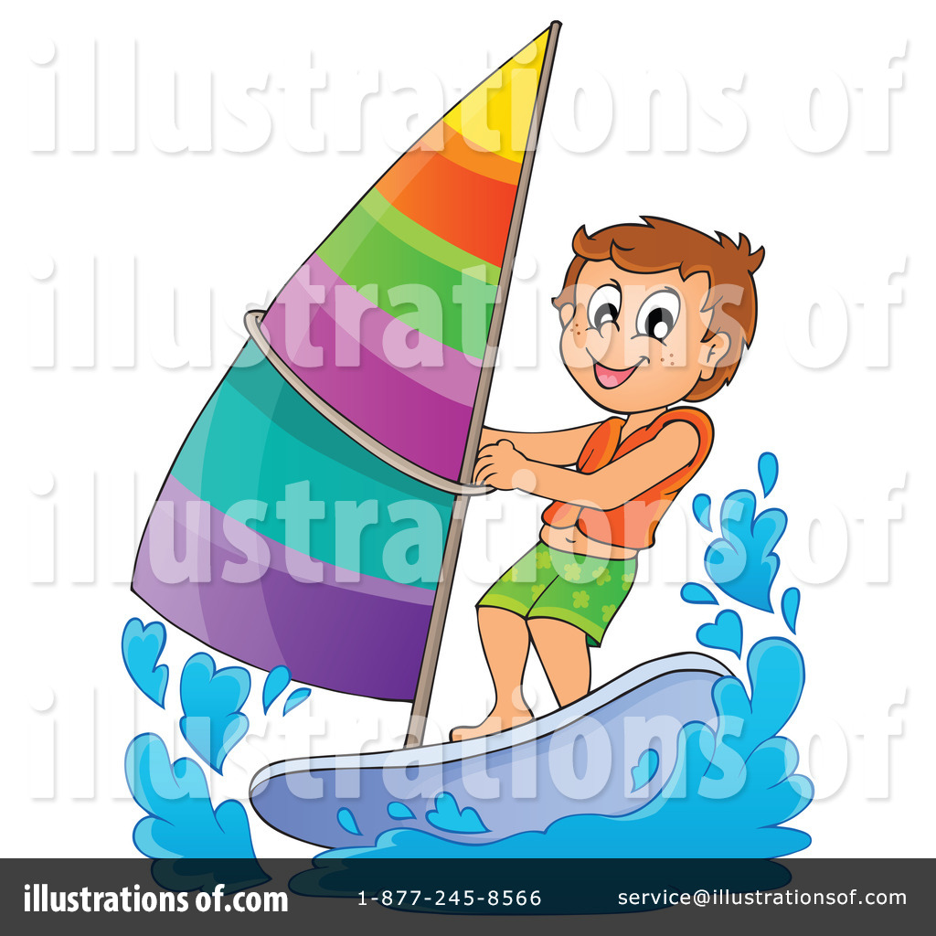 Royalty Free RF Windsurfing Clipart Illustration 1186310 By Visekart