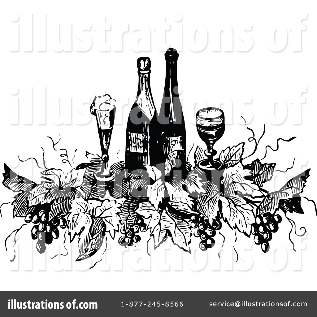 Royalty Free RF Wine Clipart Illustration 1112582 By Prawny Vintage