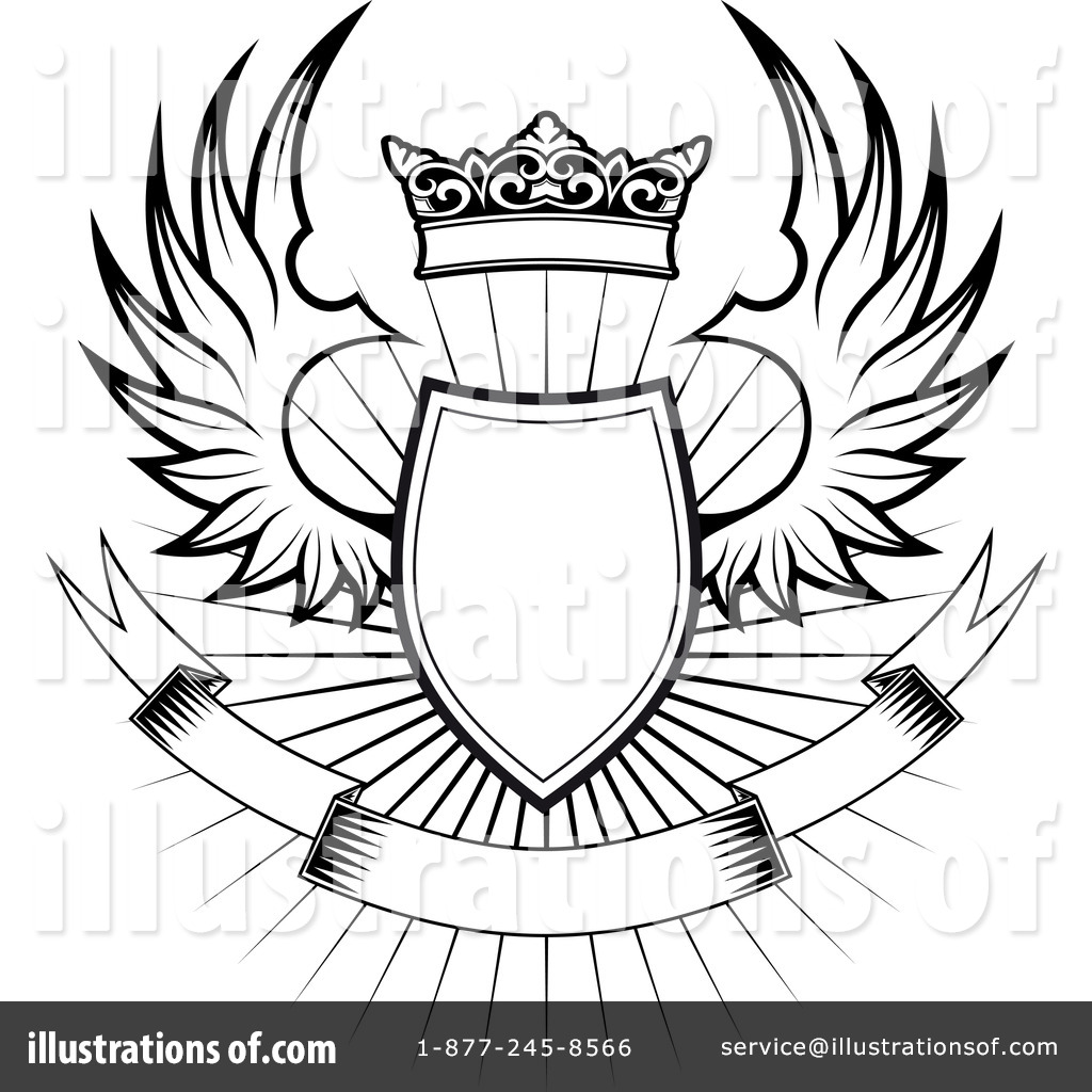 Winged Shield Clipart 1067701 Illustration By Vector