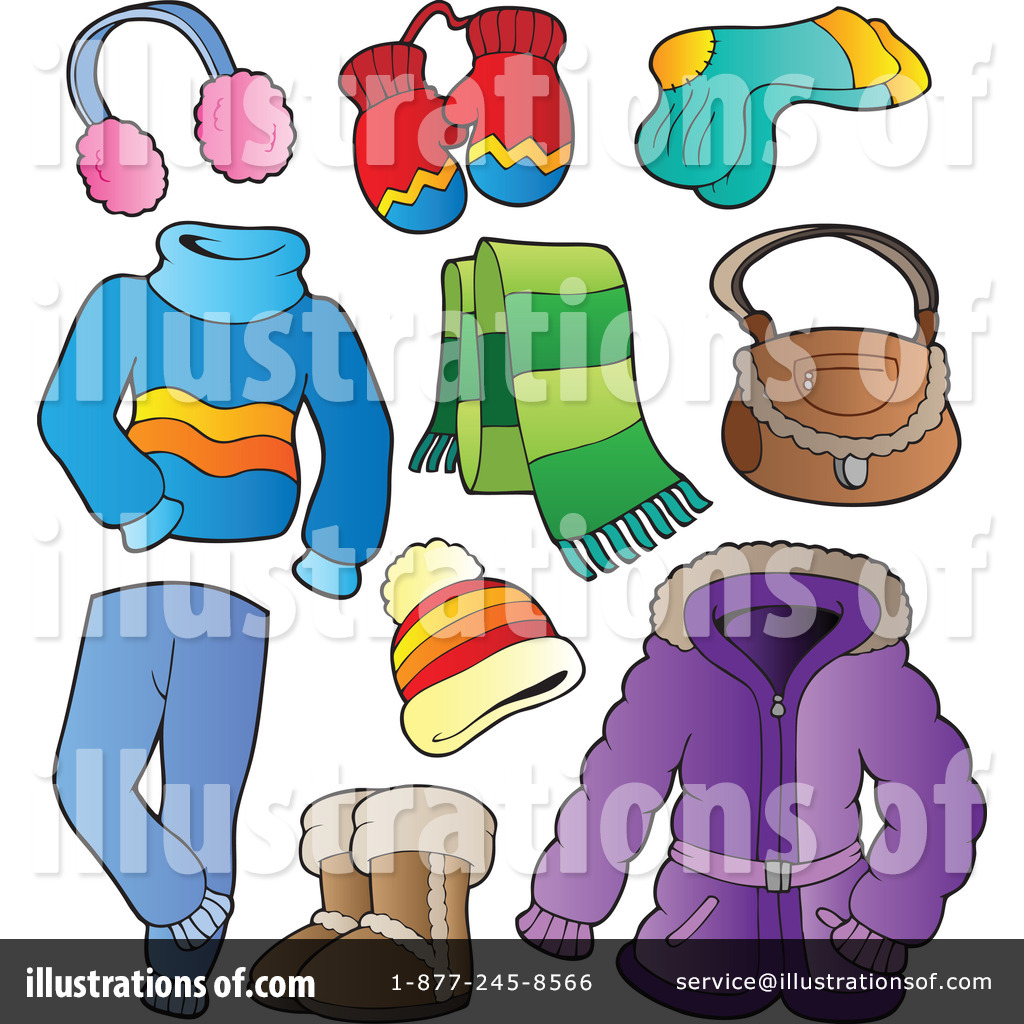 winter clothes clipart 1081660 illustration by visekart rh illustrationsof com winter clothes clipart winter fashion clipart