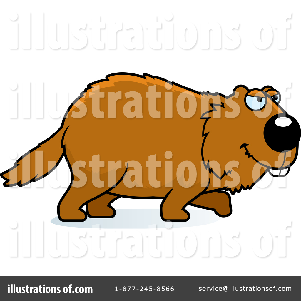 woodchuck clipart 1458493 illustration by cory thoman rh illustrationsof com Animated Groundhog Clip Art Groundhog Shadow Clip Art