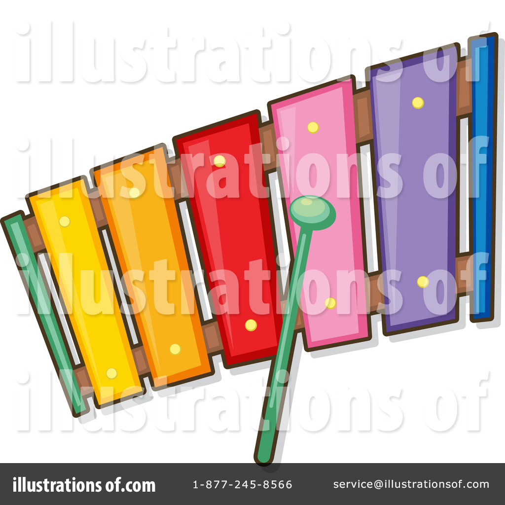 Xylophone Clipart #1128264 - Illustration by colematt