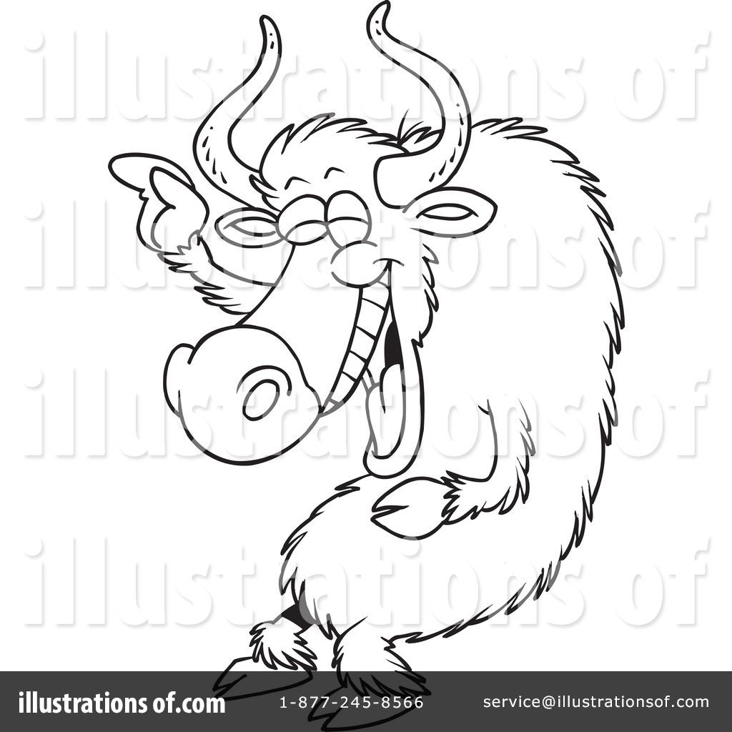 Yak Clipart #434218 - Illustration by Ron Leishman