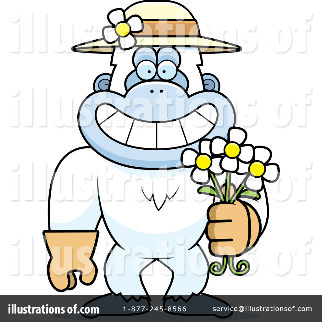 Yeti Clipart #1306179 - Illustration by Cory Thoman