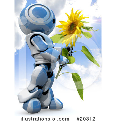 Sunflower Clipart #20312 by Leo Blanchette