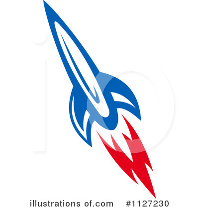 Rocket Clipart #1127230 - Illustration by Vector Tradition SM