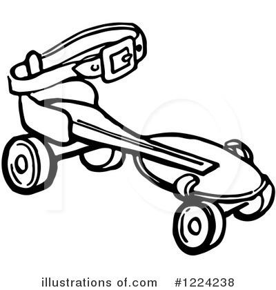 Roller Skating Clipart #1224238 - Illustration by Picsburg