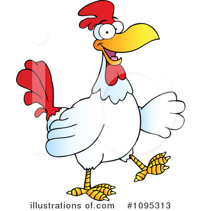 Rooster Clipart #1095313 - Illustration by Hit Toon