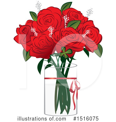 Royalty-Free (RF) Rose Clipart Illustration by Vitmary Rodriguez - Stock Sample #1516075