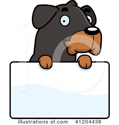 Rottweiler Clipart #1204438 by Cory Thoman