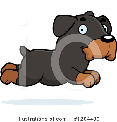 Rottweiler Clipart #1204439 by Cory Thoman