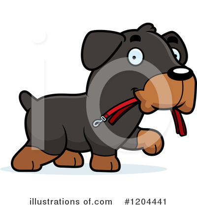 Rottweiler Clipart #1204441 by Cory Thoman