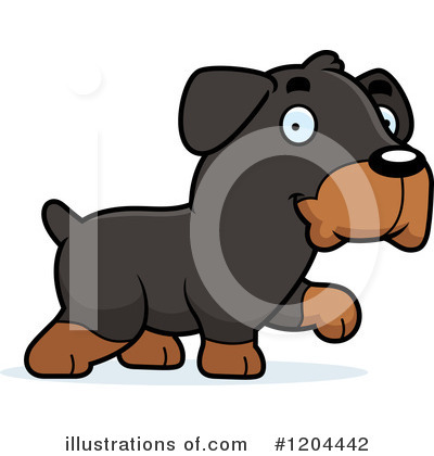 Rottweiler Clipart #1204442 by Cory Thoman
