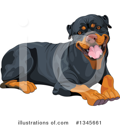 Rottweiler Clipart #1345661 by Pushkin
