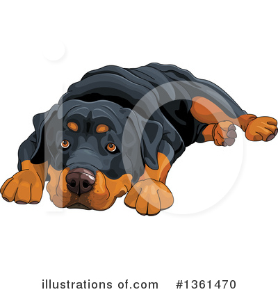 Rottweiler Clipart #1361470 by Pushkin