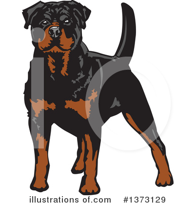 Rottweiler Clipart #1373129 by David Rey