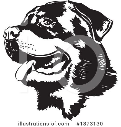 Rottweiler Clipart #1373130 by David Rey