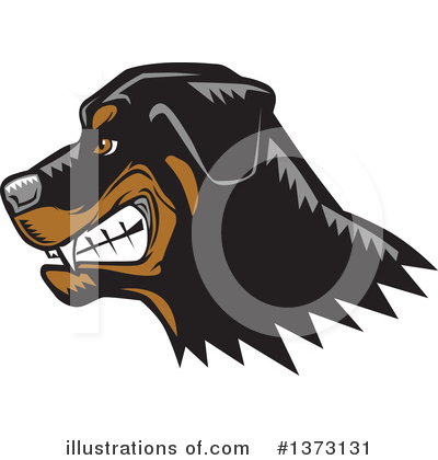 Royalty-Free (RF) Rottweiler Clipart Illustration by David Rey - Stock Sample #1373131