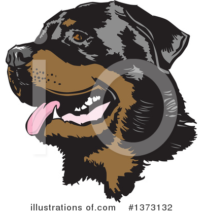 Rottweiler Clipart #1373132 by David Rey