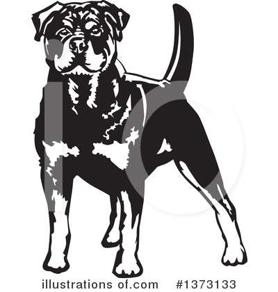Rottweiler Clipart #1373133 by David Rey