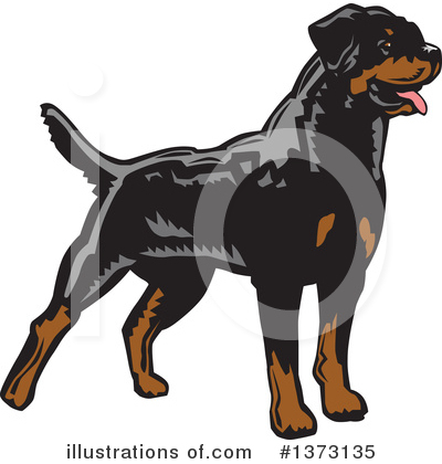 Rottweiler Clipart #1373135 by David Rey