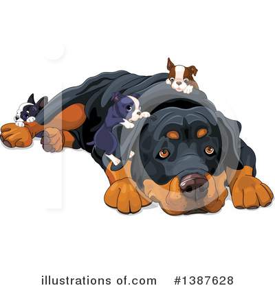 Rottweiler Clipart #1387628 by Pushkin