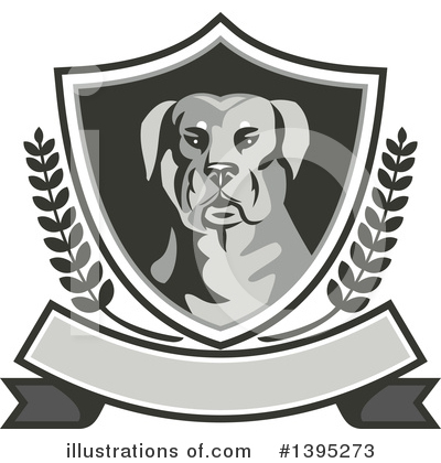 Rottweiler Clipart #1395273 by patrimonio