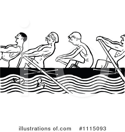 Rowing Clipart #1127330 - Illustration by Vector Tradition SM