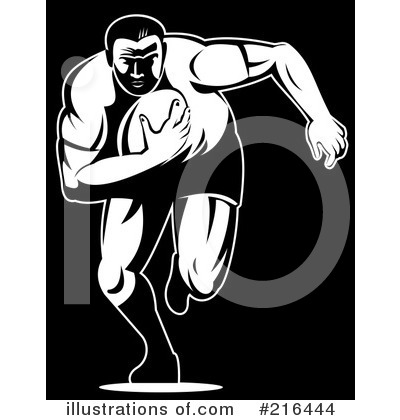 Rugby Clipart #216444 - Illustration by patrimonio