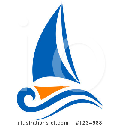 Sailboat Clipart #1234688 by Vector Tradition SM