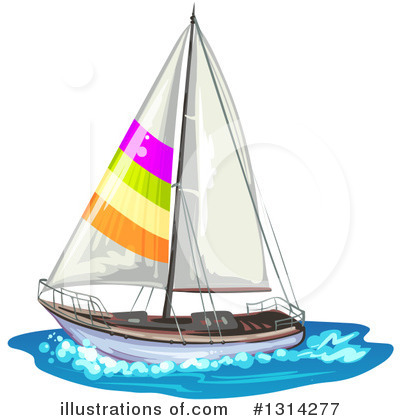 Sailboat Clipart #1314277 by merlinul